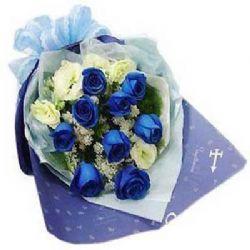 久久不变/9朵蓝玫瑰
