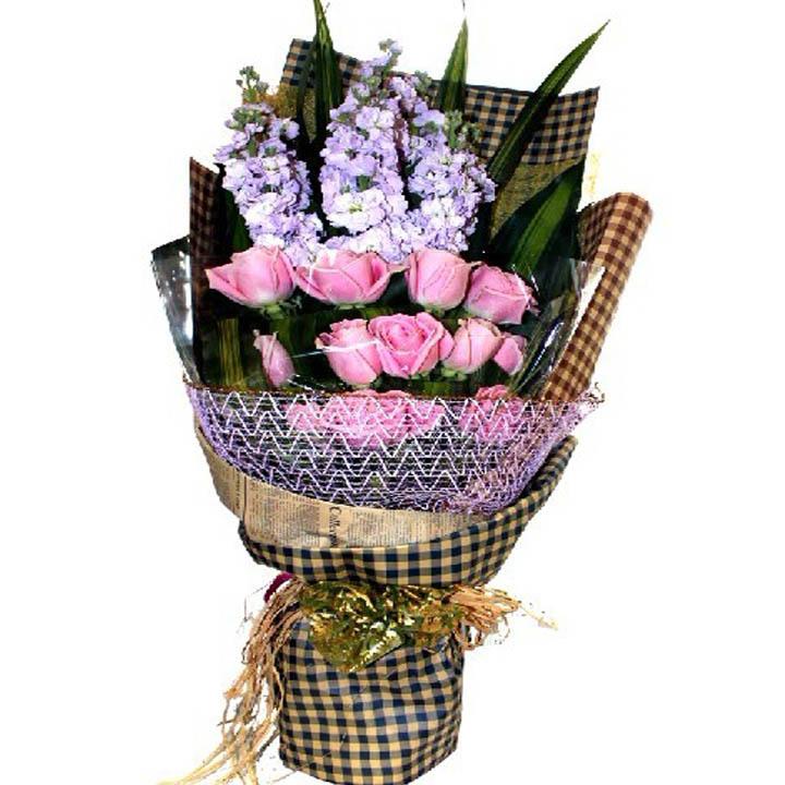 �剀岸�浪漫/12朵紫玫瑰
