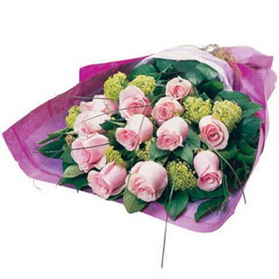 生日的祝福/12朵粉玫瑰