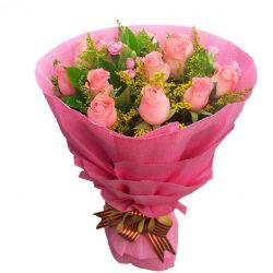 亲爱的/12朵粉玫瑰
