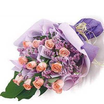 �鄣男�言/12朵粉玫瑰