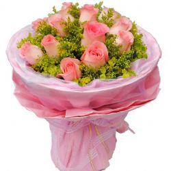 浪漫爱情/12朵粉玫瑰