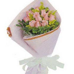 轻声问候/12朵粉玫瑰