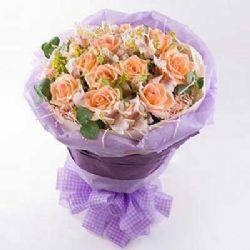 你最珍贵/12朵香槟玫瑰