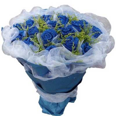 �{色幻想/21朵�{玫瑰: 21朵�{玫瑰,�S�L�S�M(�{玫瑰是特殊花材,要提前天3左右咨�客服�A定)