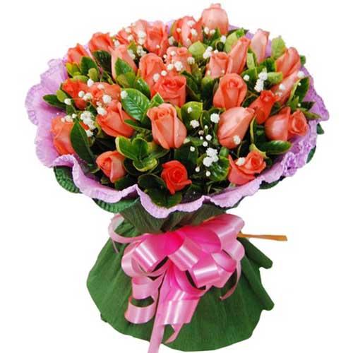 携手走过/22朵粉玫瑰