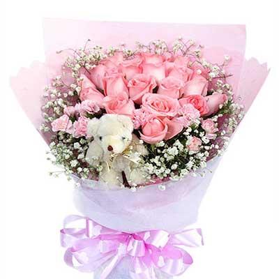 真爱/22朵粉玫瑰