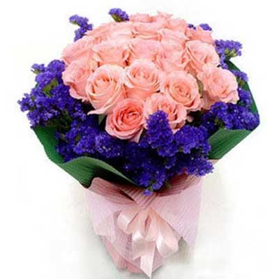 欢乐无比/21朵粉玫瑰