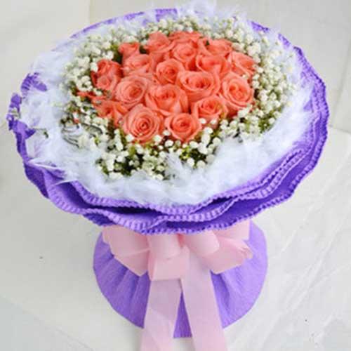 永远等着你/21朵粉玫瑰