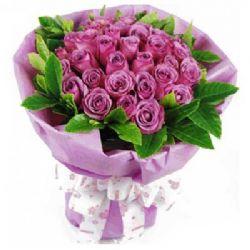 浪漫天使/22朵紫色玫瑰