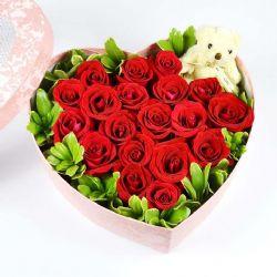 ?#31726;?#20043;心/19朵红玫瑰