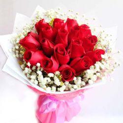 宝贝,天天快乐/19朵红玫瑰
