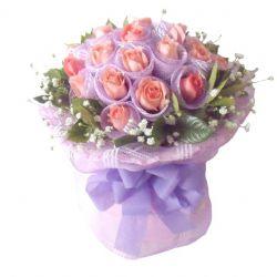 等你/19朵粉玫瑰