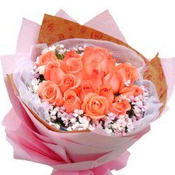自由飞翔/19朵粉玫瑰