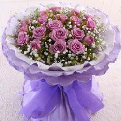 亲爱的/19朵紫玫瑰