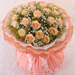 爱的点滴/19朵香槟玫瑰