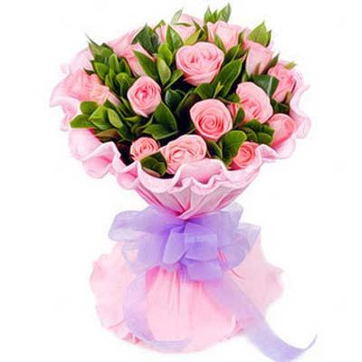 相忆/18朵粉玫瑰