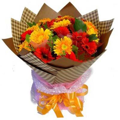 寄相思/19朵太阳花: 19朵扶朗,搭配绿叶等,组成花束
