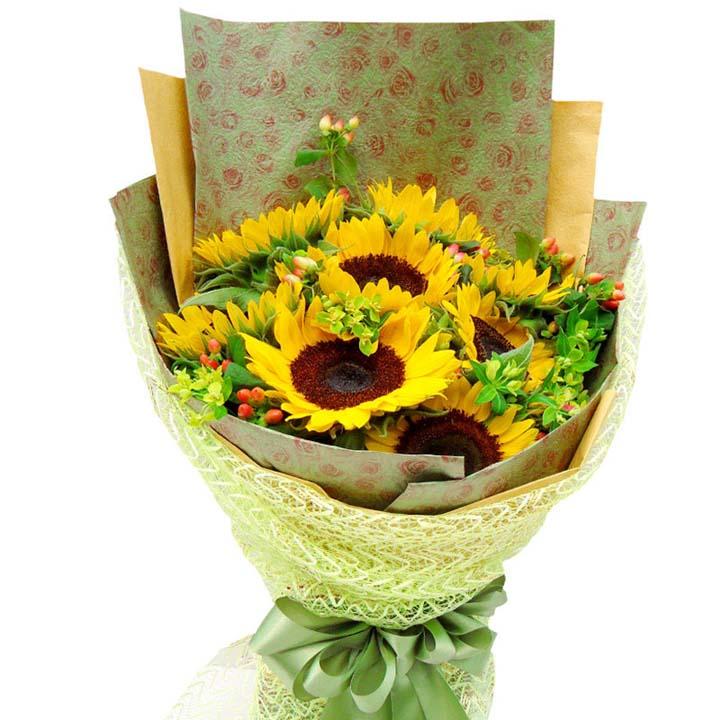 陽光燦爛/9朵向日葵