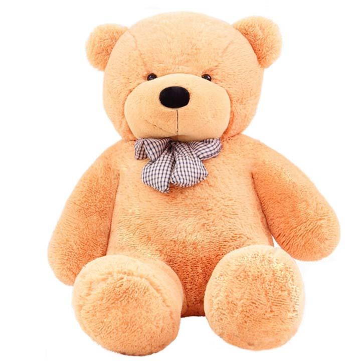 礼品/120cm浅棕色泰迪熊: 坐量120cm浅棕色泰迪熊,内添高档PP棉,100%绿色产品