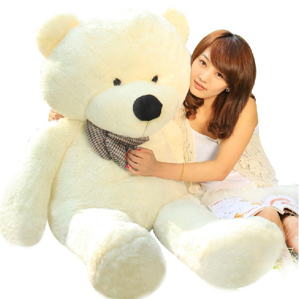 礼品/160cm白色泰迪熊: 坐量160cm白色泰迪熊,内添高档PP棉,100%绿色产品
