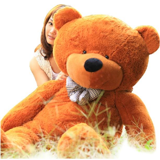 礼品/160cm深棕色泰迪熊: 坐量160cm深棕色泰迪熊,内添高档PP棉,100%绿色产品