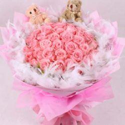 不言中/33朵粉玫瑰