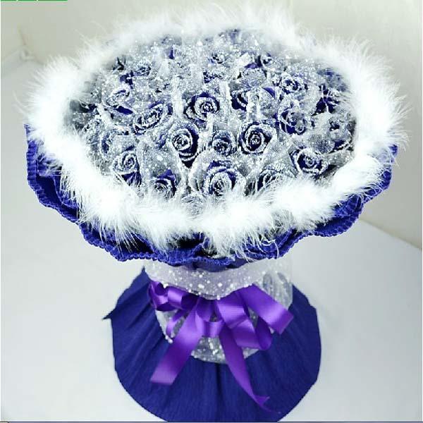 爱你无悔/33朵蓝玫瑰