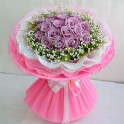你的微笑/18朵紫玫瑰