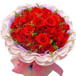 相聚浪漫/33朵红玫瑰