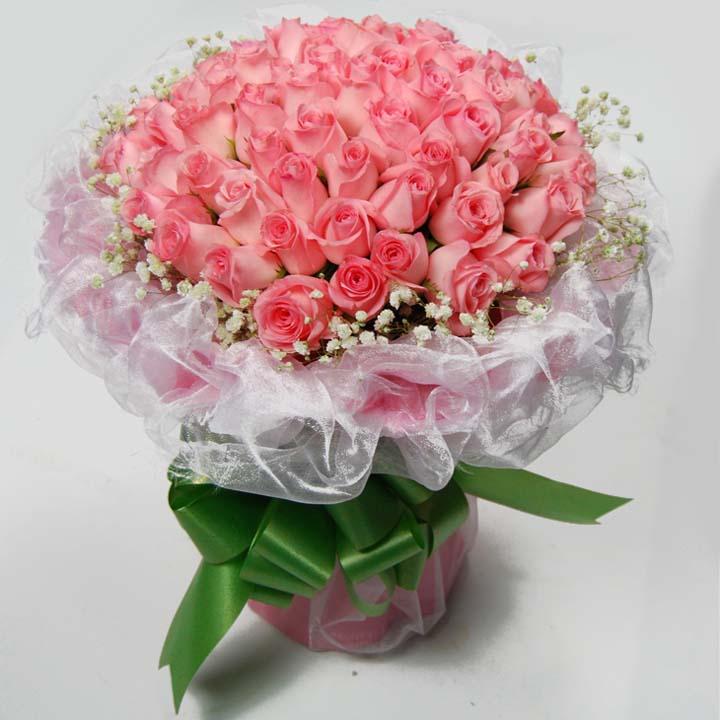幸福的奇迹/50朵粉玫瑰