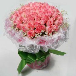幸福的奇�E/50朵粉玫瑰