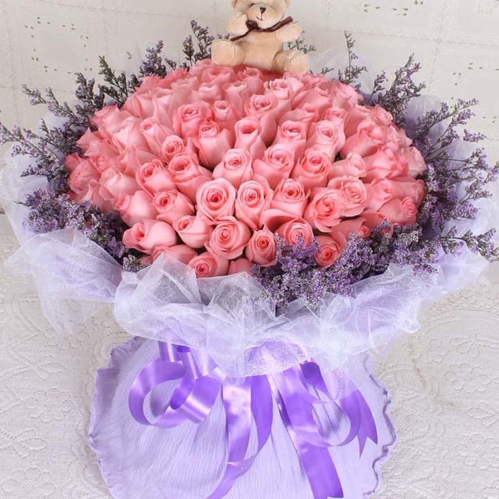 有你的快乐/66朵粉玫瑰