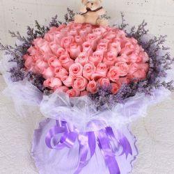 ?#24515;?#30340;快乐/66朵粉玫瑰