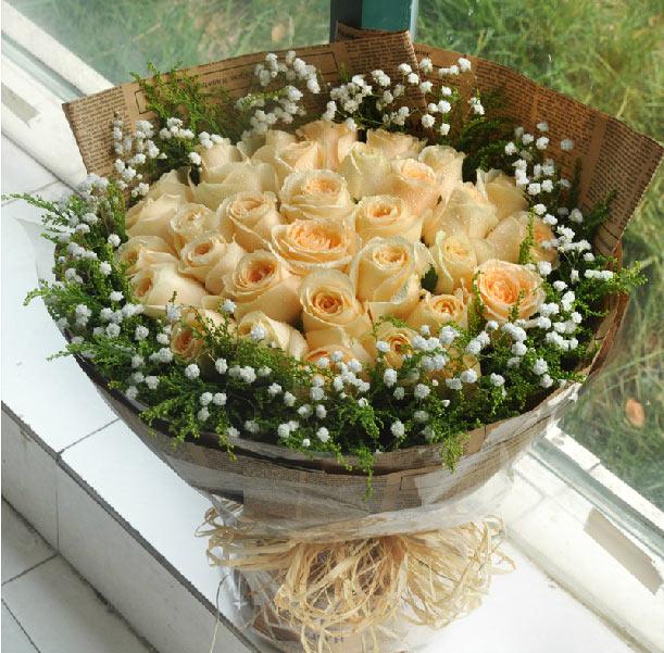 33朵香槟玫瑰/穿越的爱恋