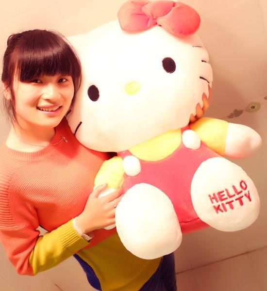 43cm正版hello kitty 草莓kt�P蒂/生日�Y物