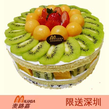 麦路嘉蛋糕/鲜果盛会(8寸)