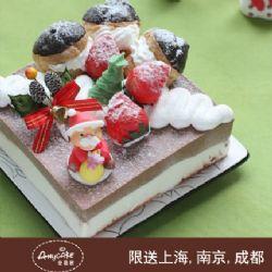 安易客蛋糕/圣诞使者巧克力蛋糕{8寸}