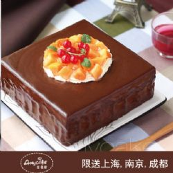 安易客蛋糕/巧克力芒果流心慕斯蛋糕{8寸}