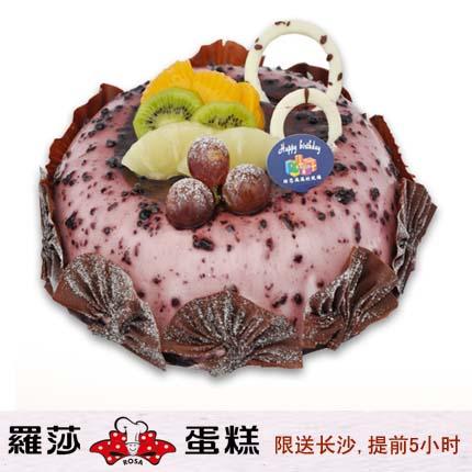 �L沙�_莎蛋糕/ 美��小�{莓(8寸)