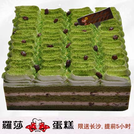 �L沙�_莎蛋糕/ 抹茶�t豆慕斯(8寸)