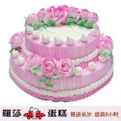 长沙罗莎蛋糕/ 双层蛋糕(12寸)