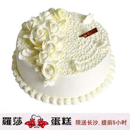 �L沙�_莎蛋糕/ 雨露玫瑰(6寸)