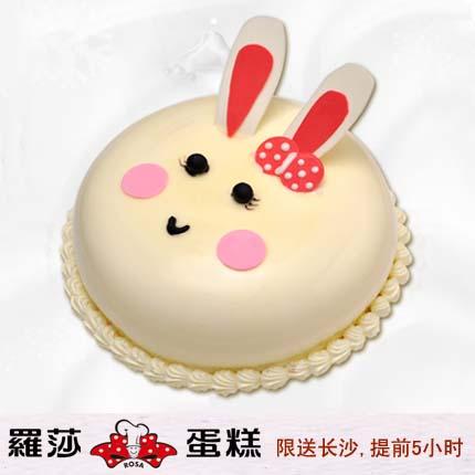 �L沙�_莎蛋糕/ 卡通乖乖兔(8寸)