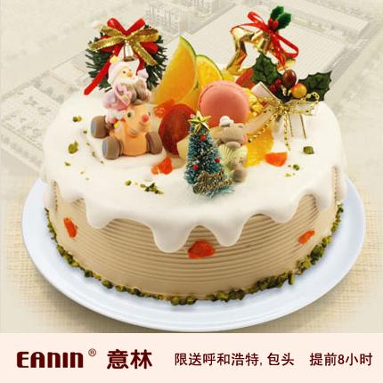 意林蛋糕/缤纷圣诞咖啡蛋糕{8寸}