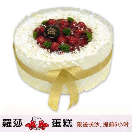 �L沙�_莎蛋糕/ 雪白皇冠(8寸)