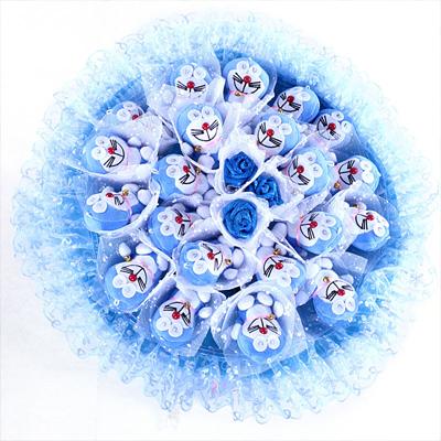 卡通花束/蓝色梦幻