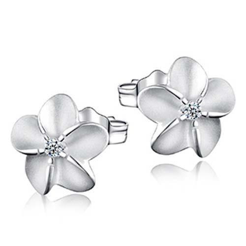 纯银耳钉/花与爱丽丝纯银耳钉