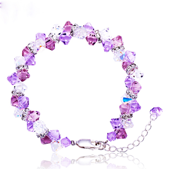 施华洛世奇/波西米亚925银水晶手链