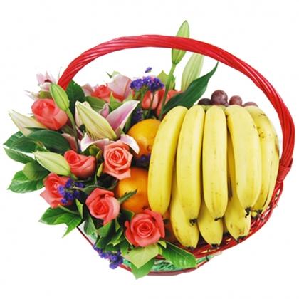 时尚果篮/幸福满园水果花篮